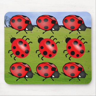 """""""Lady Bugs"""" Mouse Pad"""