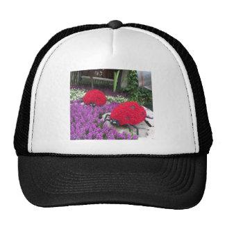 Lady BUGS n pink FLOWERS Butterfly Garden Gifts Trucker Hat