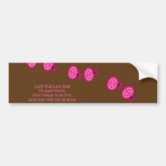Lady Bugs Nursery Rhyme Bumper Sticker