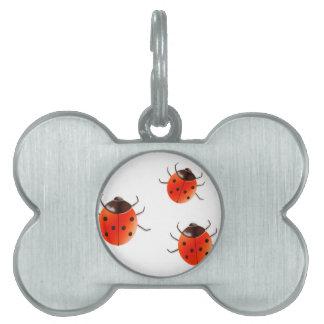 Lady Bugs Pet Name Tag