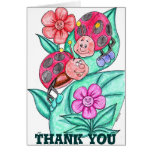 Lady Bugs Thank You Card