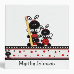 Lady Bugs with Pencil Teacher's Class Planner Binders