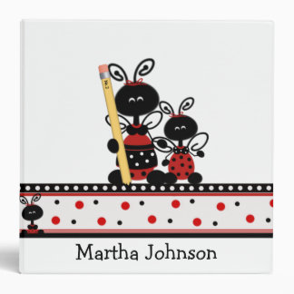 Lady Bugs with Pencil Teacher's Class Planner Binder