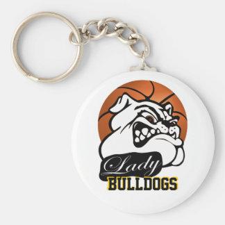Lady Bulldogs School Team Mascot Basketball Keychain