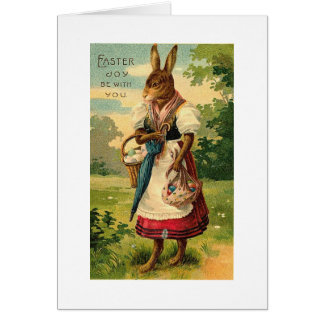 Lady Bunny Brings Easter Joy Greeting Card