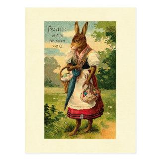 Lady Bunny Brings Easter Joy Postcard