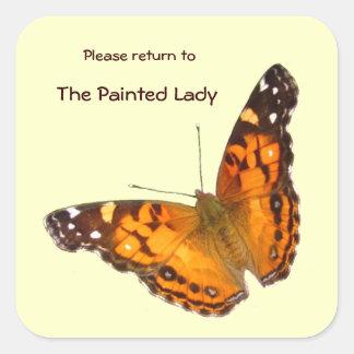 Lady Butterfly Bookplate ~ sticker