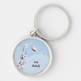Lady Butterfly Innocent Blue Keychain