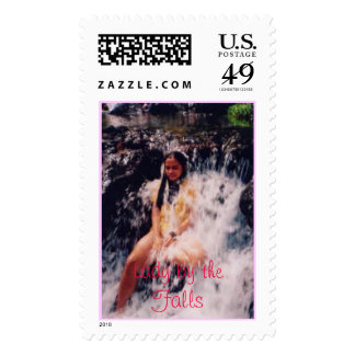 Lady by the Falls Postage Stamp