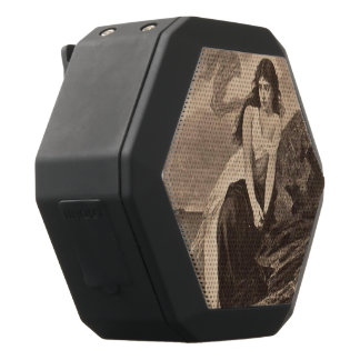 lady by the sea vintage art victorian gothic black bluetooth speaker