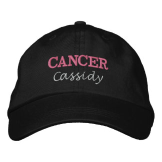 Lady Cancer Zodiac Pink Star Sign Embroidered Baseball Hat