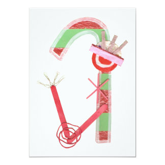 Lady Candy Cane Invitations