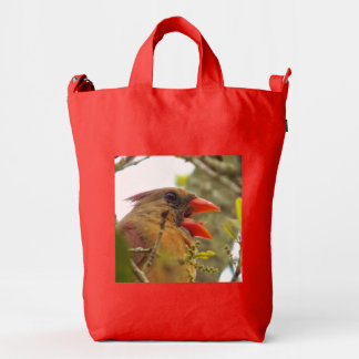 Lady Cardinal's Song Tote Duck Bag