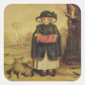 Lady Caroline Montagu, c.1776 (oil on canvas) Square Sticker