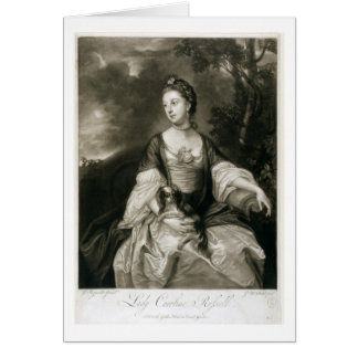 Lady Caroline Russell, engraved by James McArdell Card