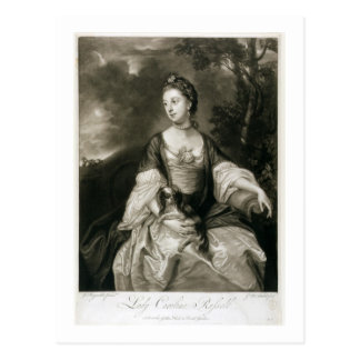 Lady Caroline Russell, engraved by James McArdell Postcard