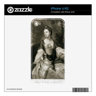 Lady Caroline Russell engraved by James McArdell Skin For The iPhone 4S