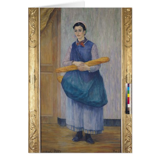 Lady Carrying Bread, 1889 Card