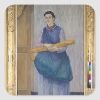 Lady Carrying Bread, 1889 Square Sticker