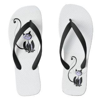 Lady Cat Flip Flops