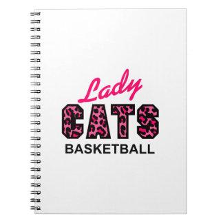 LADY CATS BASKETBALL SPIRAL NOTEBOOK