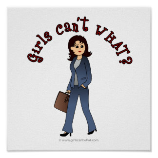 Lady CEO in Business Suit Poster