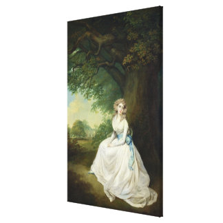 Lady Chambers, c.1789 (oil on canvas) Canvas Print