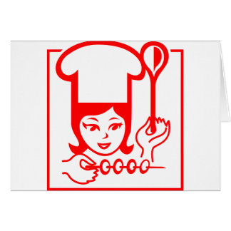 Lady Chef Greeting Cards