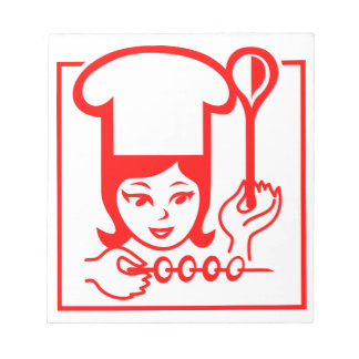 Lady Chef Notepad