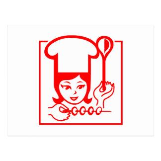 Lady Chef Postcard