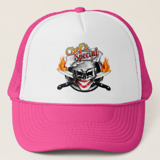 Lady Chef Skull Trucker Hat