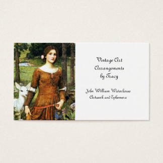 Lady Clare and the Fawn Business Card