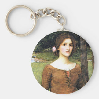 Lady Clare with a Fawn Basic Round Button Keychain