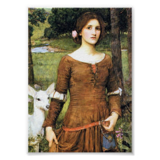 Lady Clare with a Fawn Poster