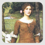 Lady Clare with a Fawn Square Sticker