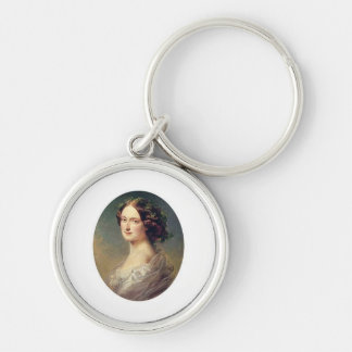 Lady clementina's child Silver-Colored round keychain