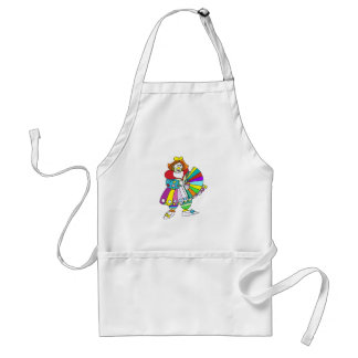 Lady Clown with Fan Adult Apron