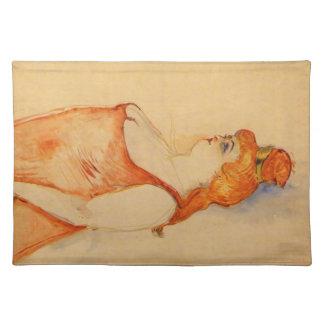 Lady Cocyte by Toulouse-Lautrec Cloth Place Mat