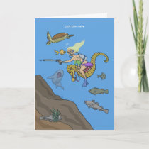 Lady Cod-Diver Greeting Card