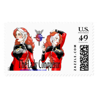 Lady Conqueror Postage Stamp
