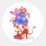 Lady Cream Dream Classic Round Sticker