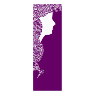 Lady - Custom Color Mini Bookmarks Double-Sided Mini Business Cards (Pack Of 20)