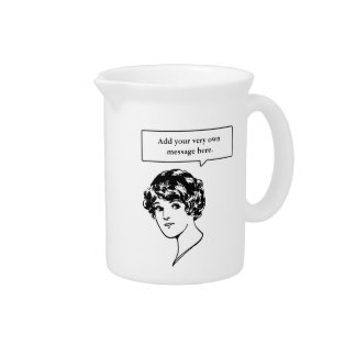 Lady Custom Speech Bubble Drink Pitcher