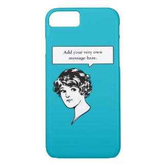 Lady Custom Speech Bubble iPhone 7 Case