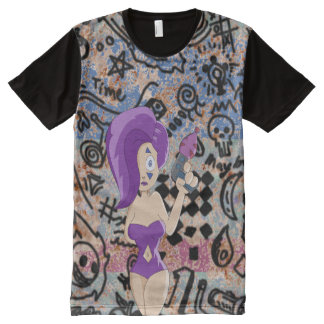 Lady Dada ready to destroy the evil in the world. All-Over Print T-shirt