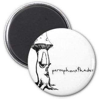 lady de la seta de los persephone&hades ' imán redondo 5 cm
