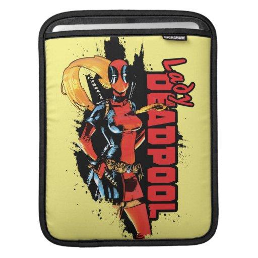 Lady Deadpool Graphic iPad Sleeve