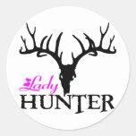 LADY DEER HUNTER ROUND STICKERS