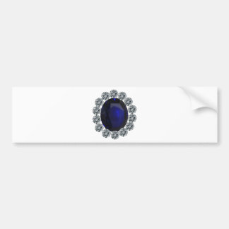 Lady Diana Engagement Ring Car Bumper Sticker