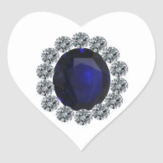Lady Diana Engagement Ring Heart Sticker